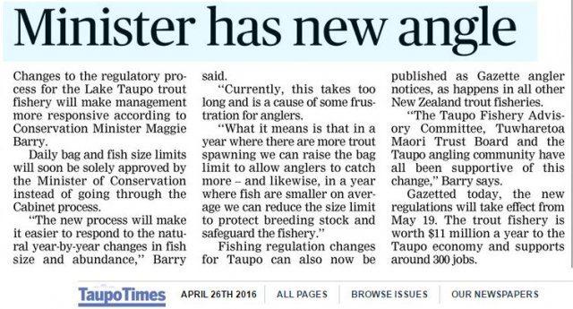TT Fishery Notices change