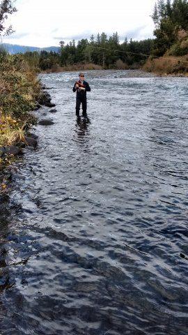 Fish on at Boulder Reach