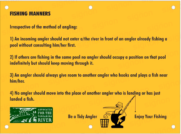 Fishing Manners sign