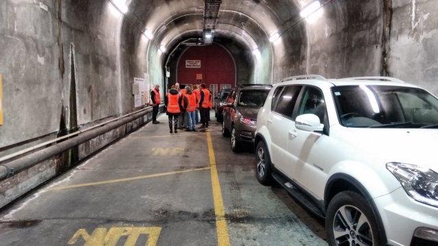 Assembling 65 m underground