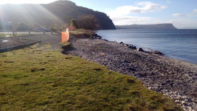 Kuratau beach erosion