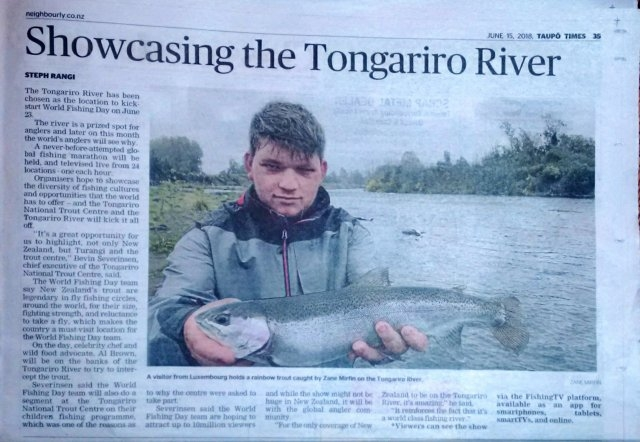 World Fishing Day. Taupo Times 180615WFD 15_06_2018 23_37 Office Lens