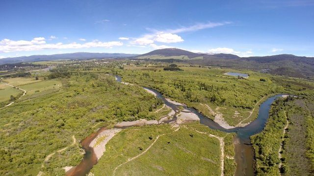Another view of the new river course