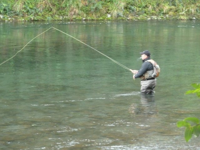 The only angler fishing the upper river Sunday 15th June 14