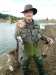 Steve Cullen with 3lb trout at Larry\'s pool